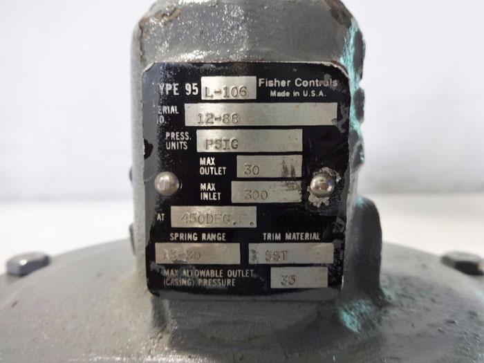 FISHER PRESSURE REDUCING REGULATOR TYPE 95L-106