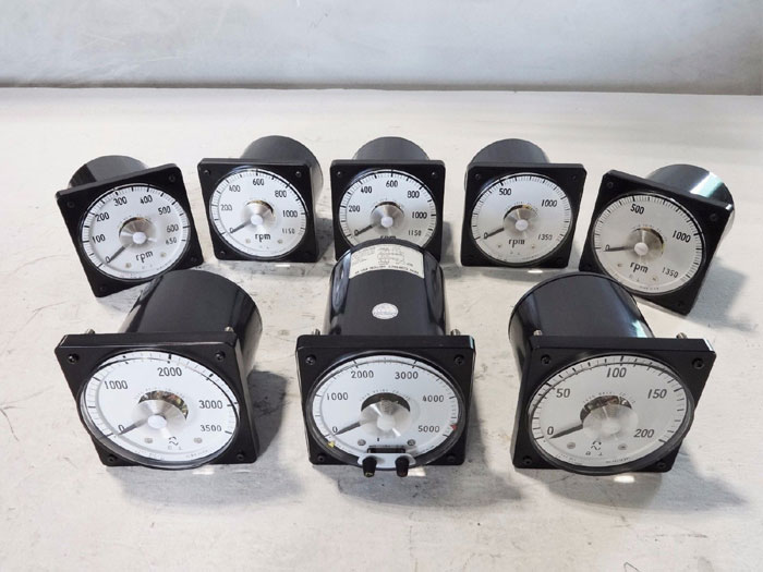 LOT OF (8) TOYO KEIKI AMMETERS & RPM SPEED METERS