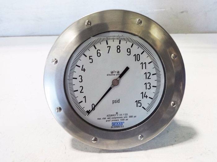 WIKA 4500 PSI DIFFERENTIAL PRESSURE GAUGE 733.25