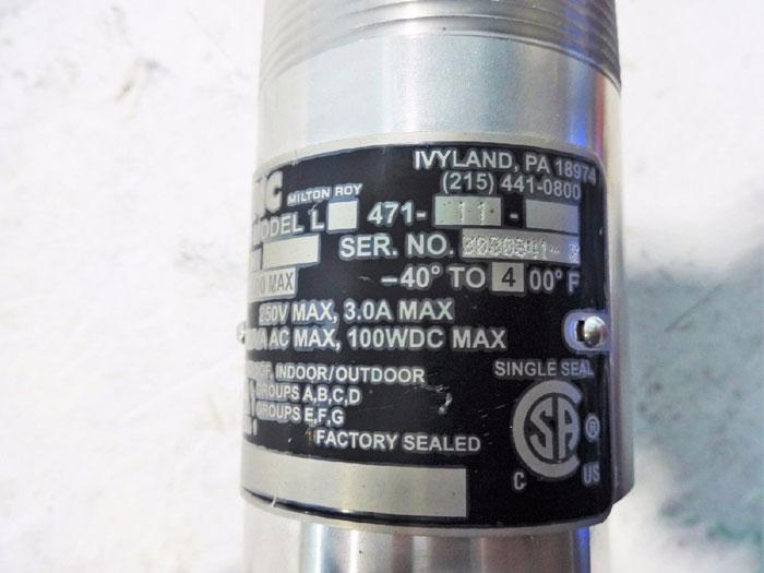 MILTON ROY LINC LEVEL ELECTRIC FLOAT SWITCH L471-11