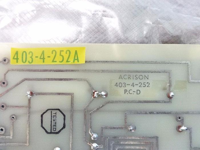 ACRISON AC LVDT DR & MTR ATT CIRCUIT BOARD 403-4-252 P.C.-D