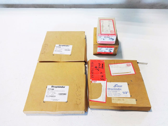 """LOT OF GERRAD STRAPBINDERS & BUCKLES 1/2"""" & 3/4"""" ST204, ST206, ST254 & ST256"""
