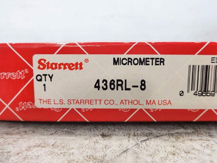 STARRETT MICROMETER 436RL-8