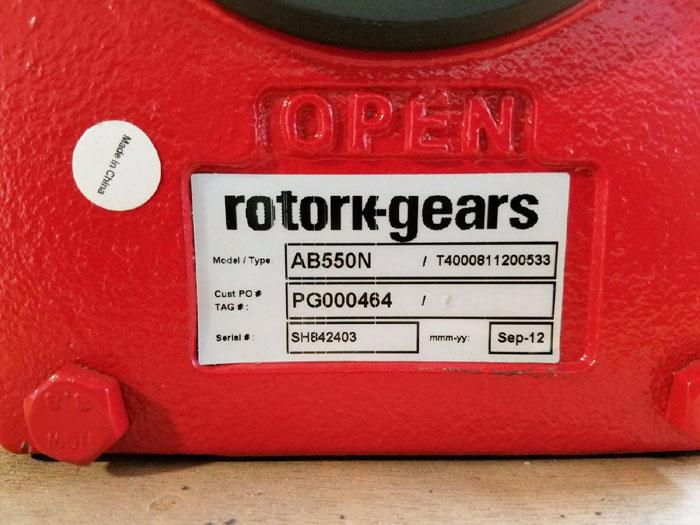 ROTORK QUARTER TURN MANUAL GEARBOX AB550N