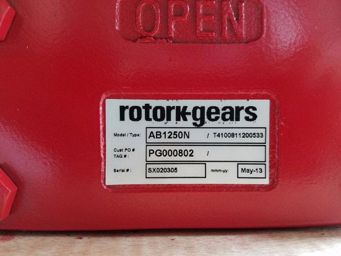 ROTORK QUARTER TURN MANUAL GEARBOX AB1250N