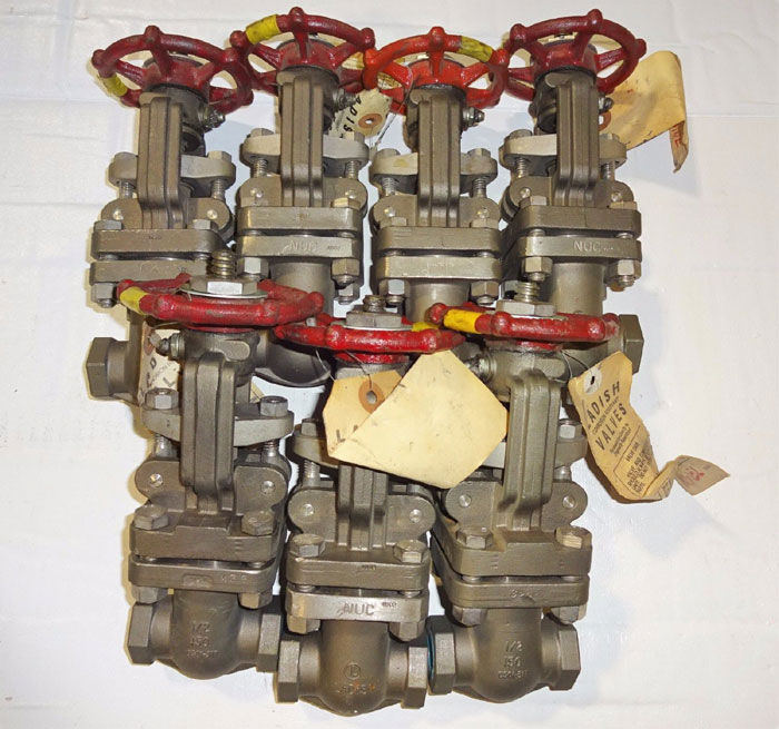 "LOT OF (7) LADISH GATE VALVES 1/2"" 150# SCREW END - MONEL                  (#52)"