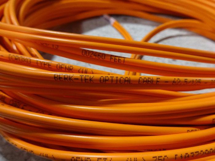 LOT OF (8) BERK-TEK FIBER OPTIC CABLES F2CSTST & F2CLCLCMM 62.5/125