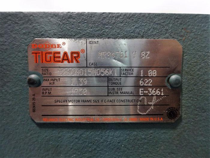DODGE TIGEAR GEAR REDUCER ID#: MR94761 Y SZ, SIZE RATIO: Q200B015M056K1