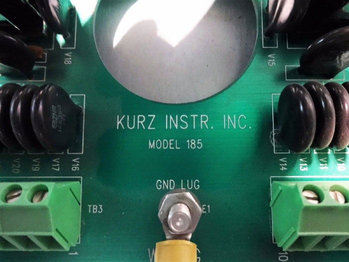 KURZ MASS FLOW COMPUTER MODEL 190-4 W/ CIRCUIT BOARD MODEL 185