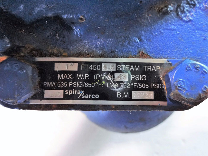 """SPIRAX SARCO 1"""" FLOAT & THERMOSTATIC STEAM TRAP FT450 4.5"""