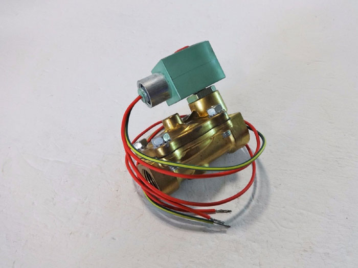 "ASCO RED HAT 2-WAY 3/4"" BRASS SOLENOID VALVE 8210G003"