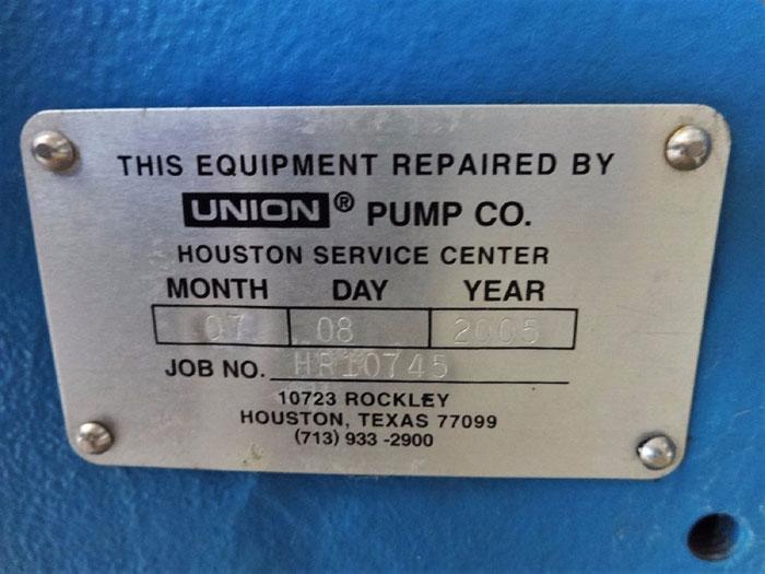 UNION PUMP CO. TRIPLEX PUMP W/ PREMIER FORCE FEED LUBRICATOR 706203