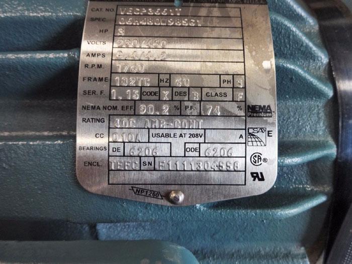SUNDYNE HMD KONTRO SEALLESS MAGNETIC DRIVE PUMP GTA 1x1x5  C-A3 W/ BALDOR MOTOR