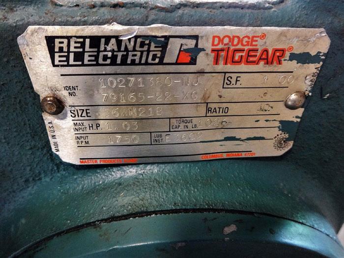 RELIANCE ELECTRIC DODGE TIGEAR REDUCER 10271380-NJ  79165-22-XG