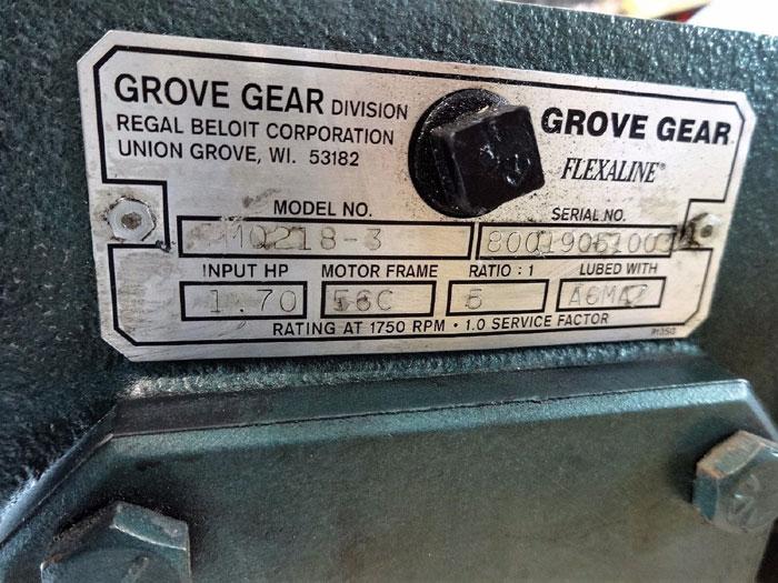 GROVE GEAR FLEAXLINE SPEED REDUCER TM0218-3 W/ RELIANCE ELECTRIC S2000 MOTOR