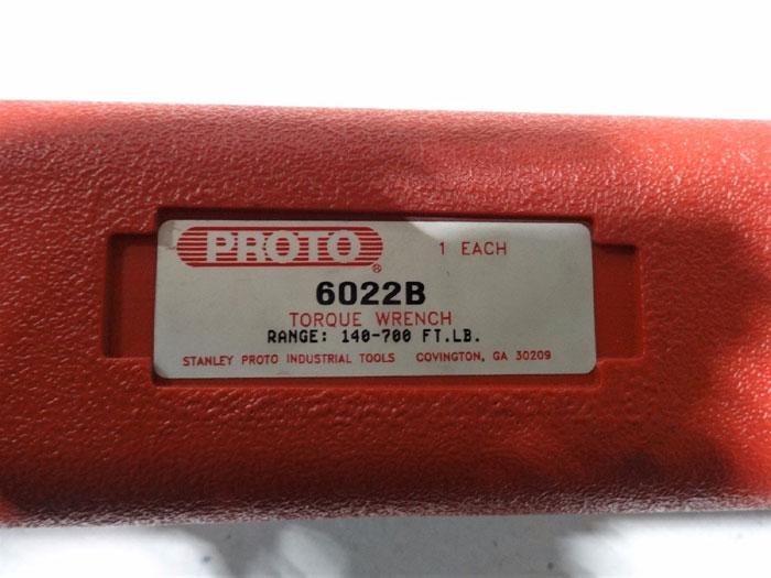 "PROTO 1"" DRIVE RATCHET HEAD TORQUE WRENCH W/ CASE 6022B"