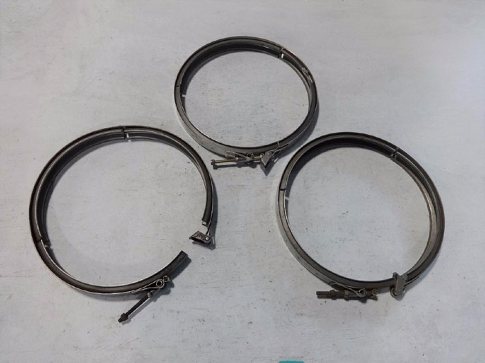 "LOT OF (3) VOSS 12"" V-BAND CLAMPS 843204C-1380-S"