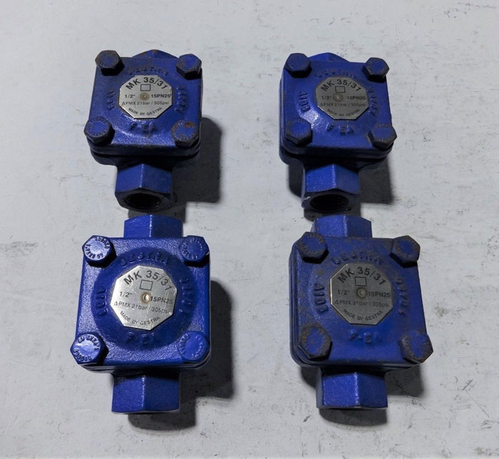 "LOT OF (4) GESTRA 1/2"" THERMOSTATIC STEAM TRAP MK 35/31"