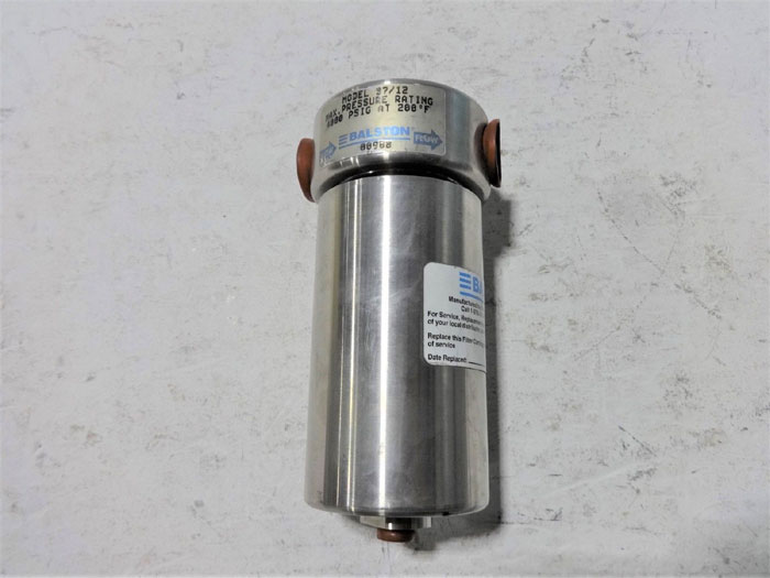 BALSTON STAINLESS STEEL HIGH PRESSURE FILTER 37/12