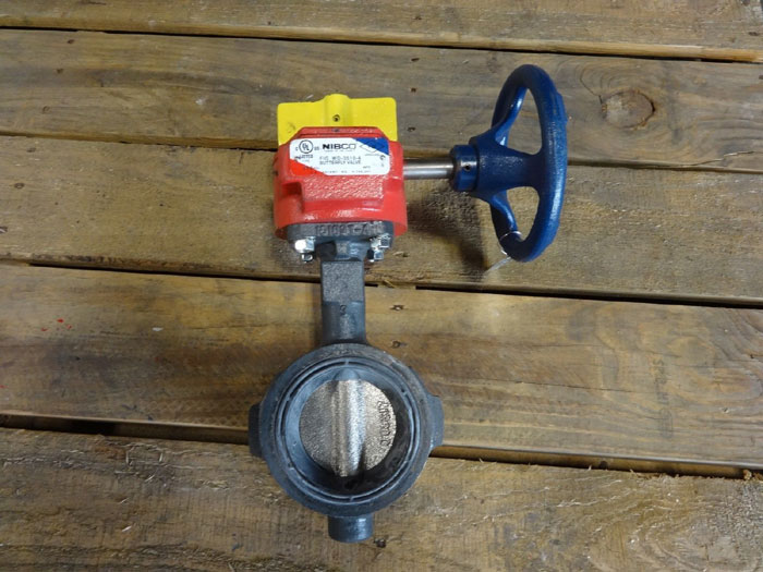 """NIBCO WAFER STYLE 3"""" BUTTERFLY VALVE WD-3510-4 WITH GEAR OPERATOR"""