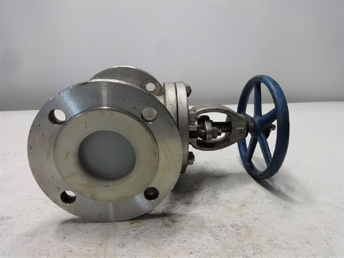 """WADA NEWCO 3"""" 150# STAINLESS STEEL GLOBE VALVE - FIG# 21FC8M4"""