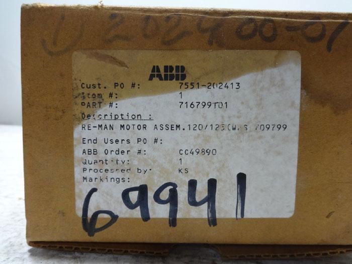 ABB K-LINE CHARGING MOTOR 716799T01
