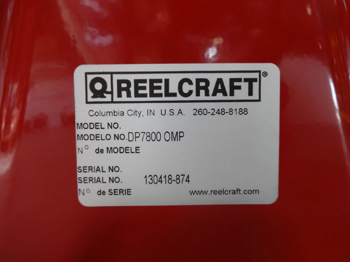 REELCRAFT DP7800 0MP HEAVY DUTY SPRING RETRACTABLE HOSE REEL