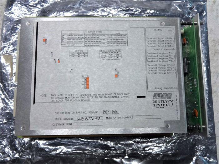 BENTLY NEVADA 3300 SYSTEM MONITOR 3300/03-01-00