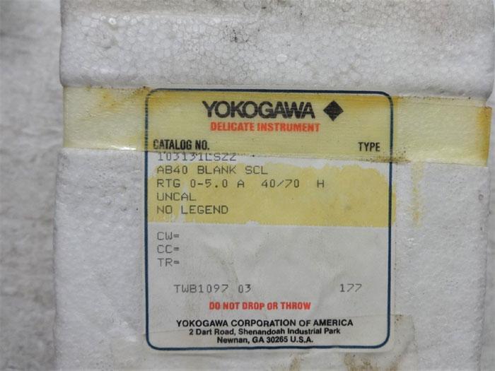 YOKOGAWA AB40 AMMETER 103131LSZZ W/ RANGE 0 TO 200