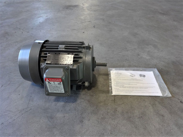 TOSHIBA HIGH EFFICIENCY 0.75 HP 3-PHASE INDUCTION MOTOR B3/42FMF2AOZ