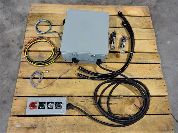 WASTEQUIP COMPACTOR PRECRUSHER TRANSDUCER CONTROLLER ASSY W/ HOFFMAN ENCLOSURE