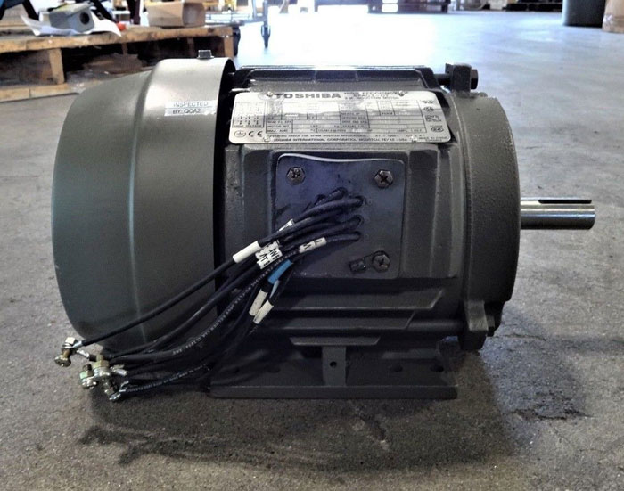 TOSHIBA 1.5 HP HIGH EFFICIENCY EPACT-CT 3-PHASE INDUCTION MOTOR Y154FTSA21A-P