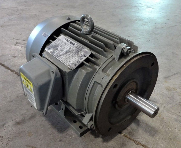 TOSHIBA 5 HP HIGH EFFICIENCY EPACT-CT 3-PHASE INDUCTION MOTOR 0054FTSA22A-P