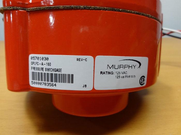LOT OF (2) MURPHY PRESSURE SWICHGAGES OPLFC-A-160 & OPLFC-A-200