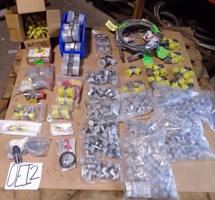 LOT OF (323) PARKER TUBE FITTINGS - Elbows, Unions, Tees, Couplings & More