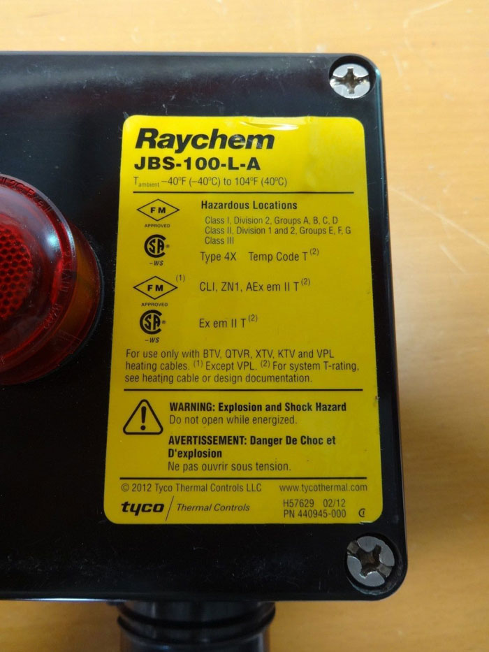RAYCHEM LIGHTED POWER CONNECTION KIT JBS-100-L-A