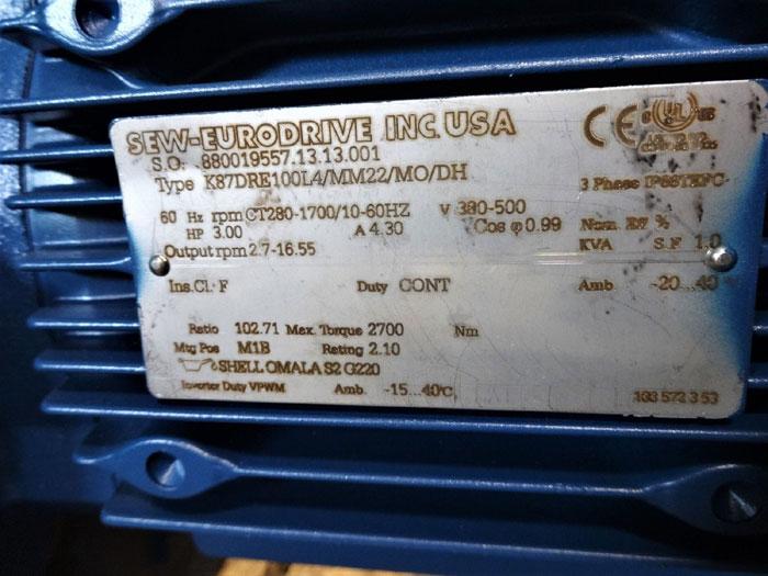 Sew Eurodrive Movimot Mm 22 Gearmotor W Inverter Duty