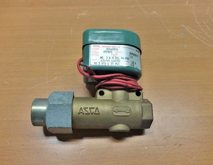 "ASCO RED HAT 1/2"" BRASS SOLENOID VALVE 8266D85V"