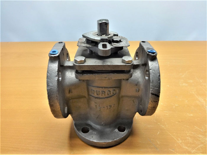 "DURCO 1-1/2"" 150# CF8M PLUG VALVE, FIG# MG411"