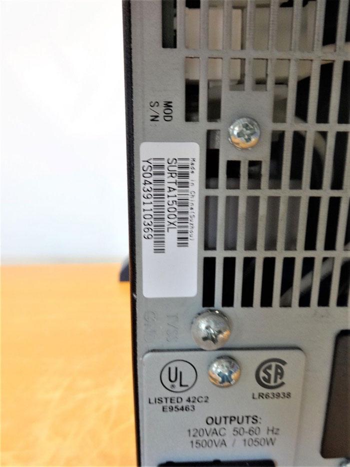 APC SURTA1500XL SMART UPS UNINTERRUPTIBLE POWER SUPPLY RACK TOWER 1500VA 120V