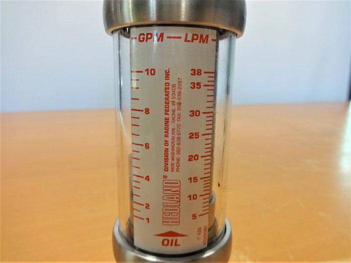 HEDLAND 6000 PSI IN-LINE LIQUID FLOW METER H601S-010-HT