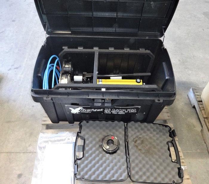 ENERPAC HYDRAULIC HAND PUMPS P391 & P2282 W/ RIVERHAWK FRAME MP-0273 & HARD CASE