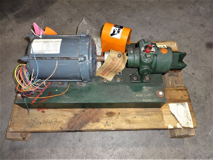 ROPER PUMP TYPE 27, FIG# 26 G 10 WITH GE MOTOR, 1 HP, MODEL 5K43PG8094FX