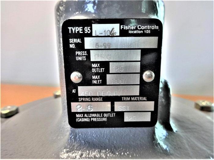 """FISHER CONTROLS 1/2"""" PRESSURE REGULATOR 95L-104"""
