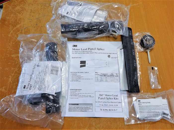 3M MOTOR LEAD PIGTAIL SPLICE KITS 5317 - LOT OF (3) KITS