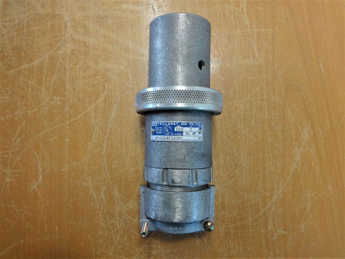 LOT OF (6) HUBBELL KILLARK PIN & SLEEVE 600V RECEPTACLE PLUGS WP-1004F3456S