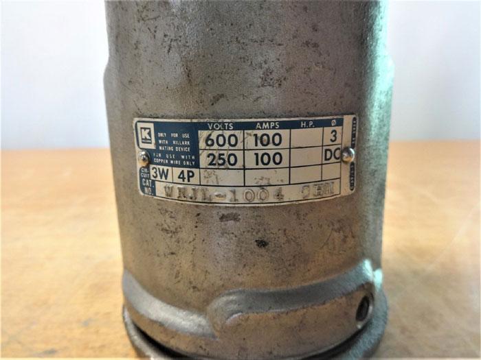 KILLARK WRJL-1004 CHM RECEPTACLE 600V, 100A, 3W, 4P