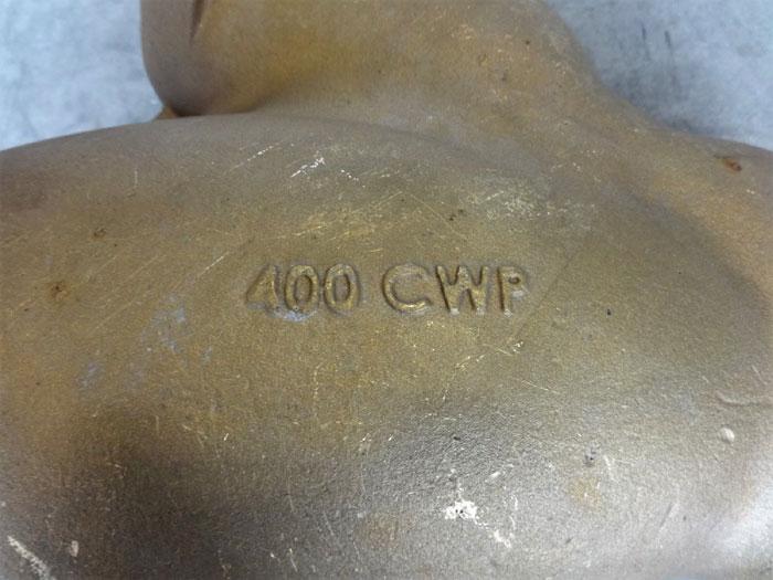 """APOLLO 4"""" NPT BRONZE Y-STRAINER / WYE-STRAINER 400 CWP"""