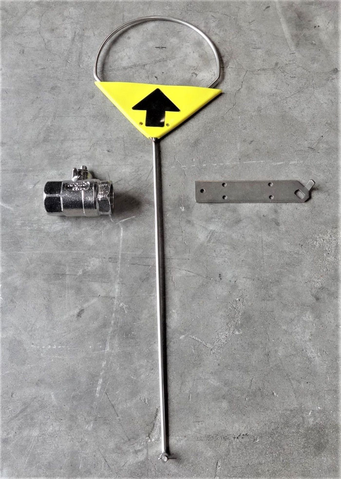 """ENCON SAFETY PRODUCTS 1-1/4"""" BALL VALVE BCP w/ ACTUATOR & PULL ROD 01052065"""
