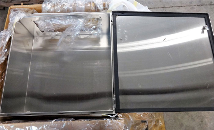 HOFFMAN STAINLESS ENCLOSURE EXE303012SS61 PANEL CP3030G & GLAND PLATE GP2412SS6